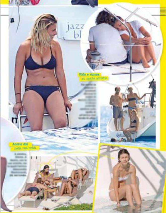 Emma Marrone in bikini, relax in barca con Alessandra Mastronardi