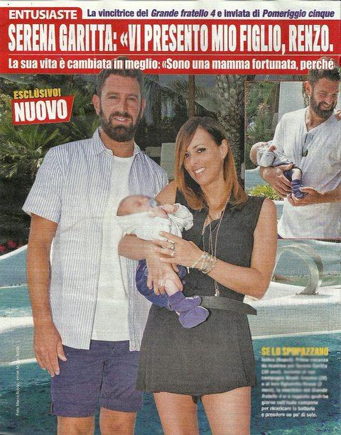 """Serena Garitta, dal GF a mamma: """"Ecco mio figlio Renzo, spero diventi bello come il papà"""""""